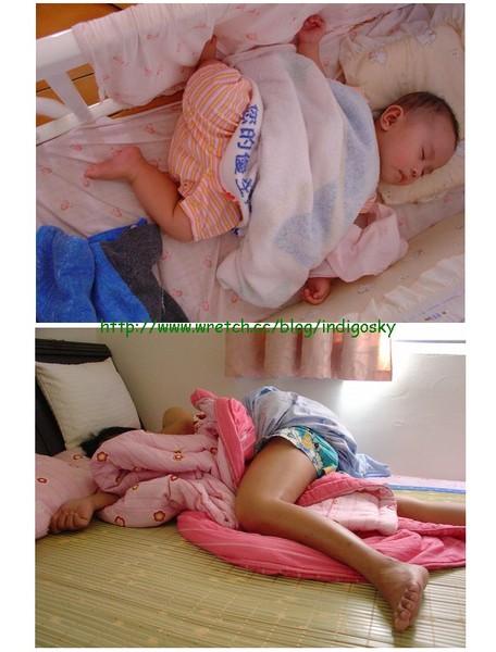 有其媽必有其女 睡姿一樣差