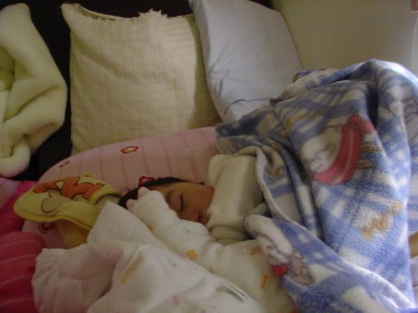 20070201 還在熟睡的蝦餅1