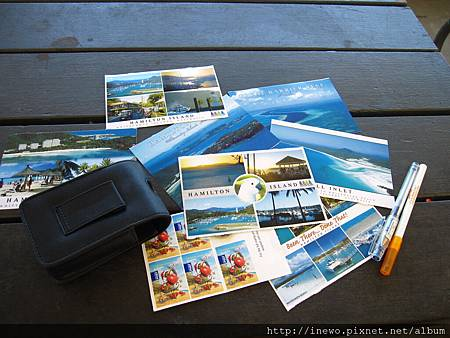 買了一堆海島post card