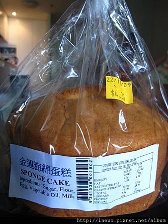 華人商店海綿蛋糕