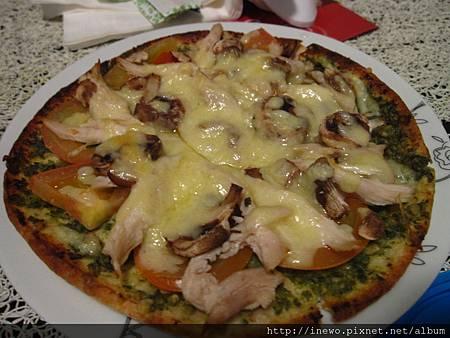 青醬烤雞pizza