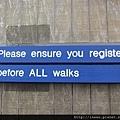 在你開始走每個步道請自主登記並完成回程的報到