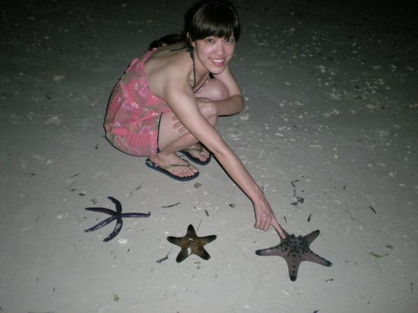 逛沙灘看到的海星~我不敢摸