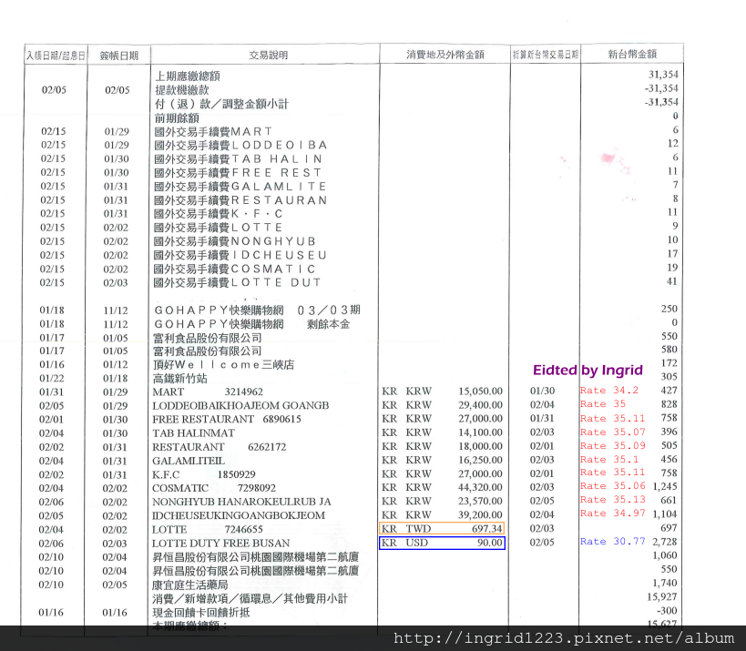 2014Feb Korea EX rate