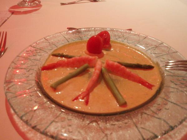 前菜:蘆筍鮮蝦