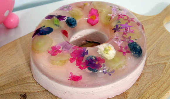 166真花瓣蛋糕