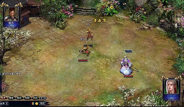 好玩的免費網頁遊戲《蜀山傳奇》3 戰鬥畫面