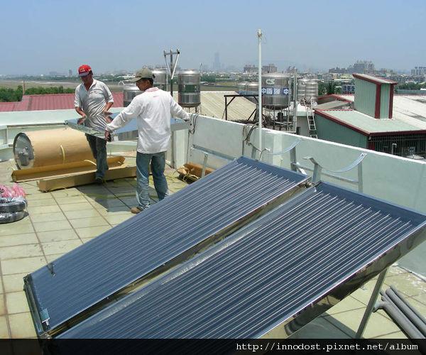 安裝太陽能熱水器3