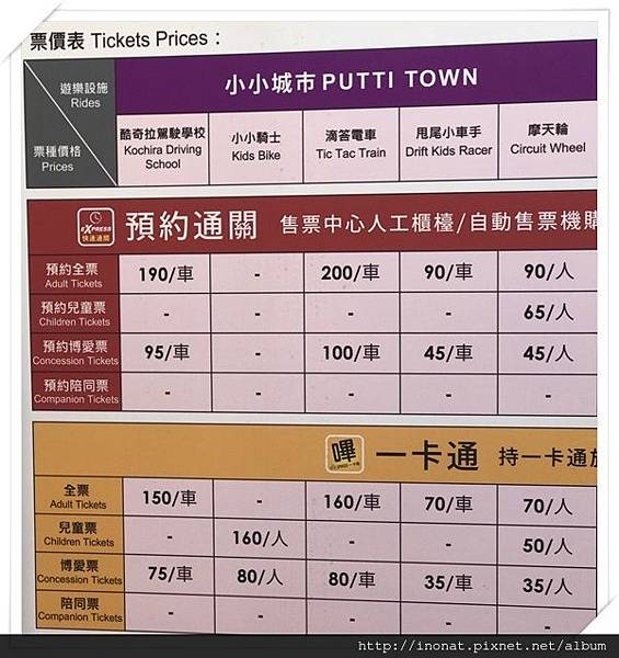 小小城市收費表.JPG