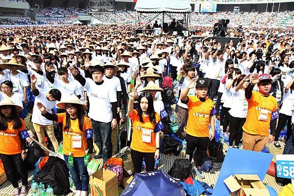 第26屆飢餓三十大會師開跑,4萬5千勇士齊聚高雄04(台灣世界展望會提供)