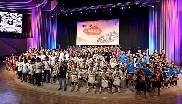 台灣兒童合唱團用歌聲傳達對資助人的感謝(台灣世界展望會提供)