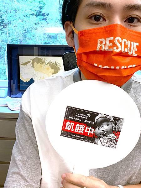 李玉璽選在8月3日體驗30小時飢餓,在飢餓的過程中,回想當年非洲關懷行的點點滴滴(台灣世界展望會提供)