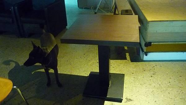 單人餐桌(五張),雙人餐桌(一張)