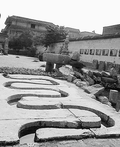 明代曲水流觴遺跡