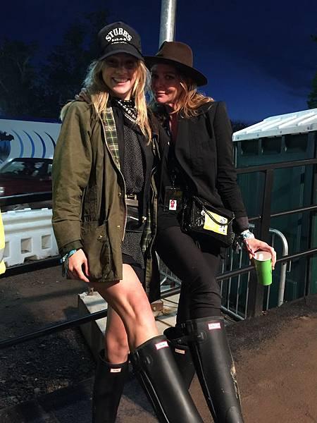 Suki Waterhouse and Stella McCartney - Glastonbury 2015 -DAY 1