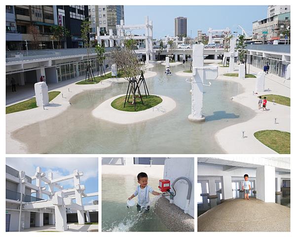 [台南]更新台南人集體記憶,中國城變身純白親水廣場,首見馬路下玩水/台南玩水景點