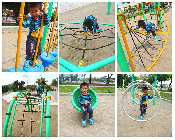 [彰化]鹿港運動場特色遊戲場,幼兒版攀爬遊具/鄰近兒童公園,鹿港老街/鹿港親子景點