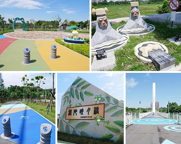 渡嘉人魅力河段健行,讓你變美又變俏/綠映水漾公園+彌陀映月橋+親水公園+堤防步道+自行車道