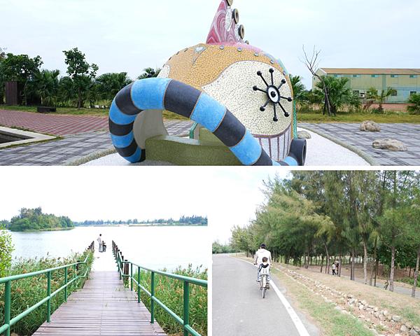 比翼雙飛,天地合一的遊客中心,免費借腳踏車/口湖遊客中心/椬梧滯洪池(小日月潭)