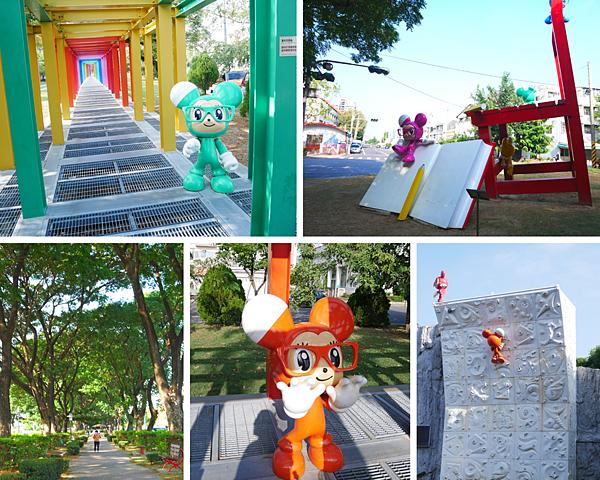 和小鼠譜一段童年狂想曲,走進彩色廊道閱讀小鎮風光/新營美術園區/台南免費景點