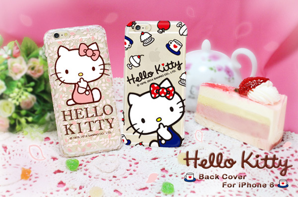 GARMMA Hello Kitty iPhone 6 保護硬殼-花漾款1