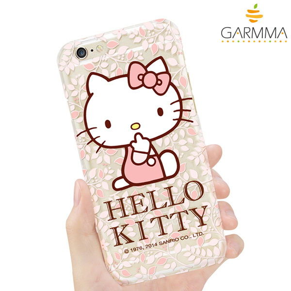 GARMMA Hello Kitty iPhone 6 保護硬殼-花漾款3