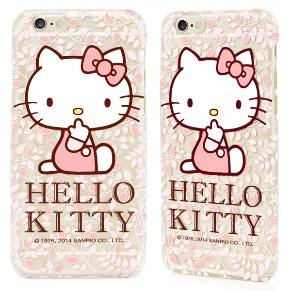 GARMMA Hello Kitty iPhone 6 保護硬殼-花漾款2