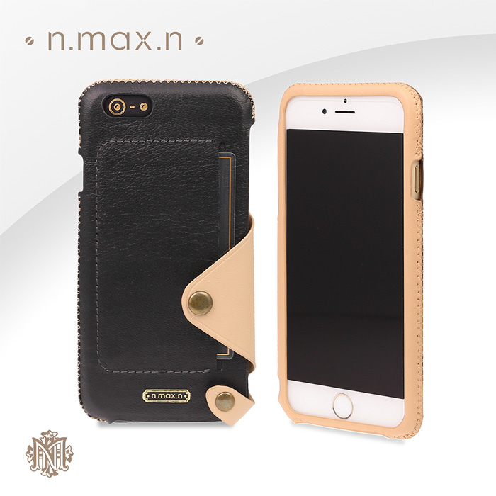 n.max.n Minimalist Series iPhone6 /6plus 簡約系列 頂級進口牛皮 內置卡袋套入式背套