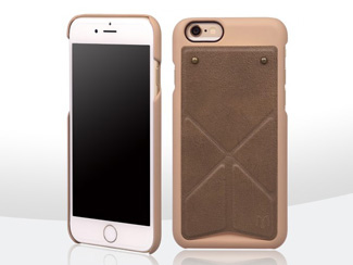 n.max.n Transformers Series iphone 6 / 6 plus 變形系列 頂級頭層牛皮 可站立式背蓋