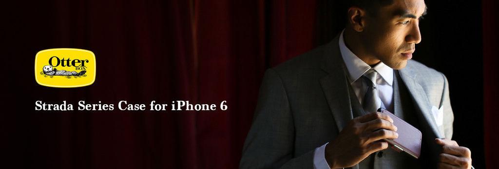 皮套殼的防摔王 OtterBox Strada iPhone 6 掀蓋式 真皮 防摔保護殼