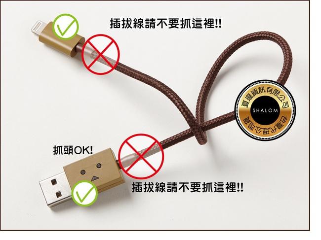 cheero 發光阿愣 / 阿楞 紙箱人 Lightning & Micro USB MFi認證 100公分 充電傳輸線