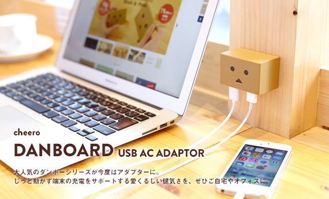 阿愣 cheero 雙輸出 USB AC 充電器 豆腐頭 原色