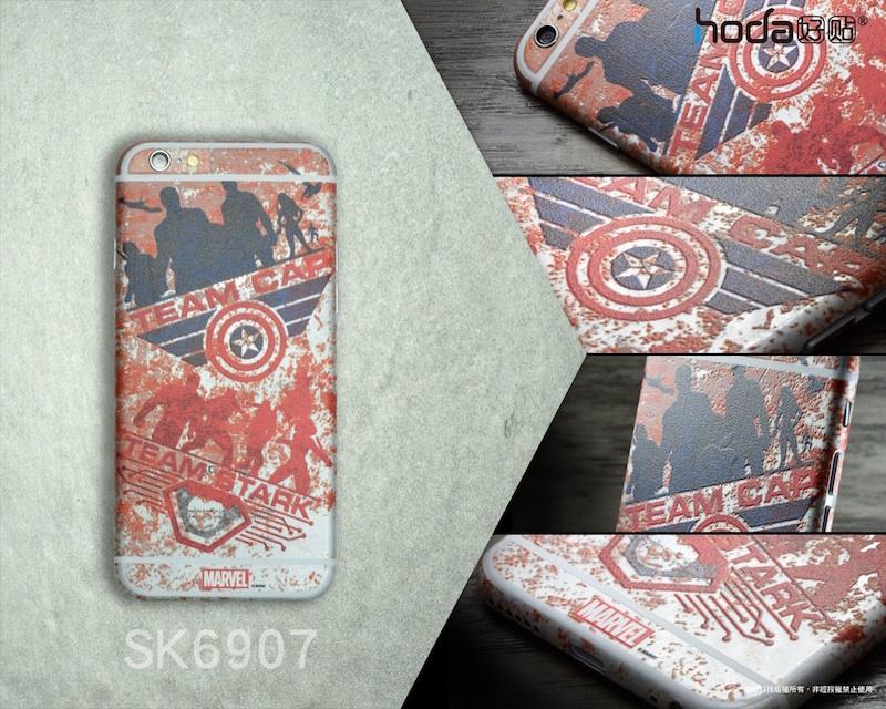 蘋果瘋 hoda 好貼 漫威系列超級英雄立體浮雕膜 for iPhone 6/6s/7 Plus & iPad 系列
