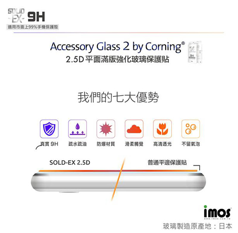 imos  iPhone 8 :8 %26; Plus 2.5D滿版康寧玻璃保護貼 Accessory glass 2 by Corning -5.jpg