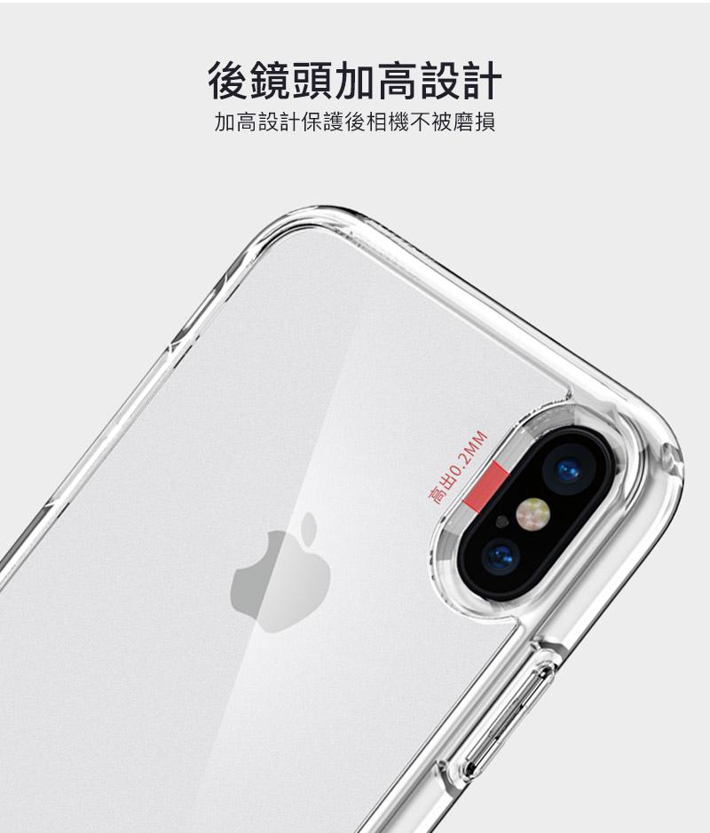 【Spigen SGP】Ultra Hybrid 透明防刮背蓋空壓手機殼 for iPhone X/8/7 & Plus