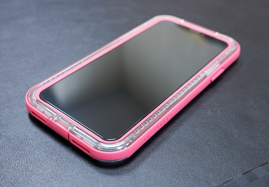 iPhone X Lifeproof - Slam 搭配 hoda 非滿版(半版)玻璃貼
