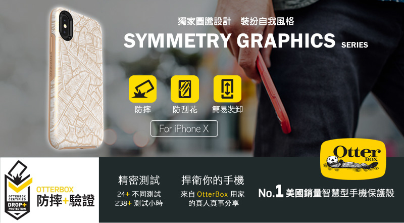 OtterBox Symmetry Series 炫彩幾何圖騰系列保護殼 for iPhone X/8/7 & Plus