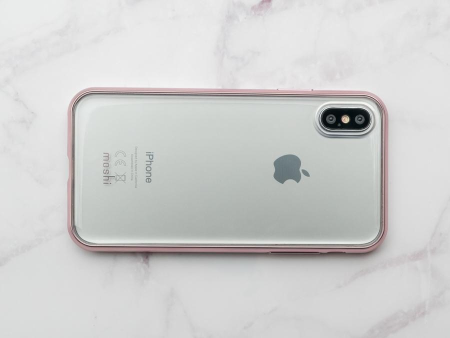 [開箱] Moshi Vitros for iPhone X 超薄透明/透明粉保護背蓋殼