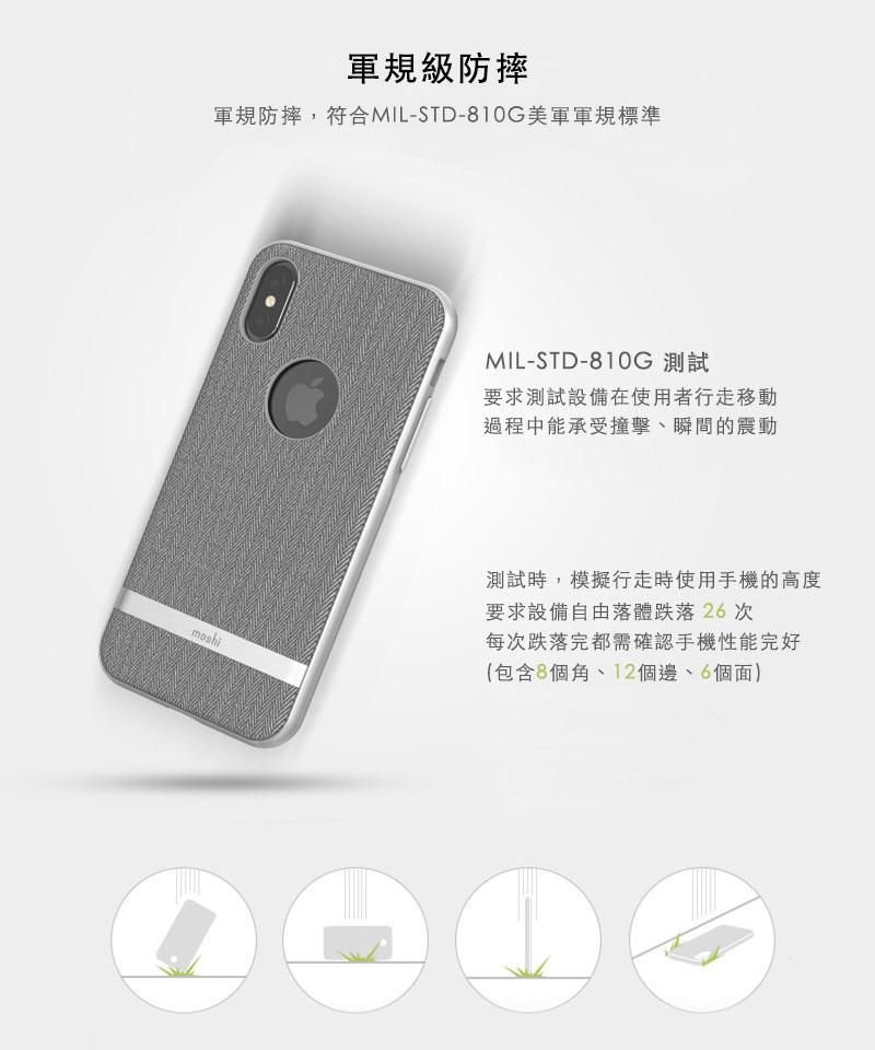 Vesta iPhone X 高機能布面保護背殼
