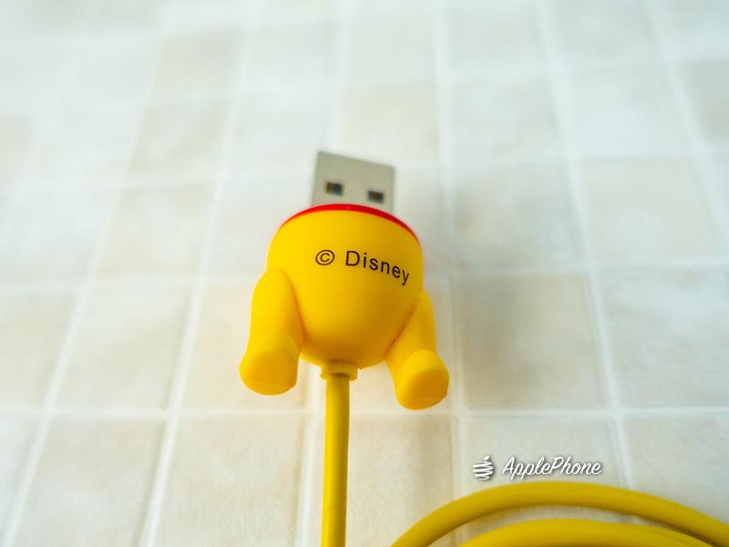 迪士尼小熊維尼 iphone傳輸線 MFI認證線 USB接頭