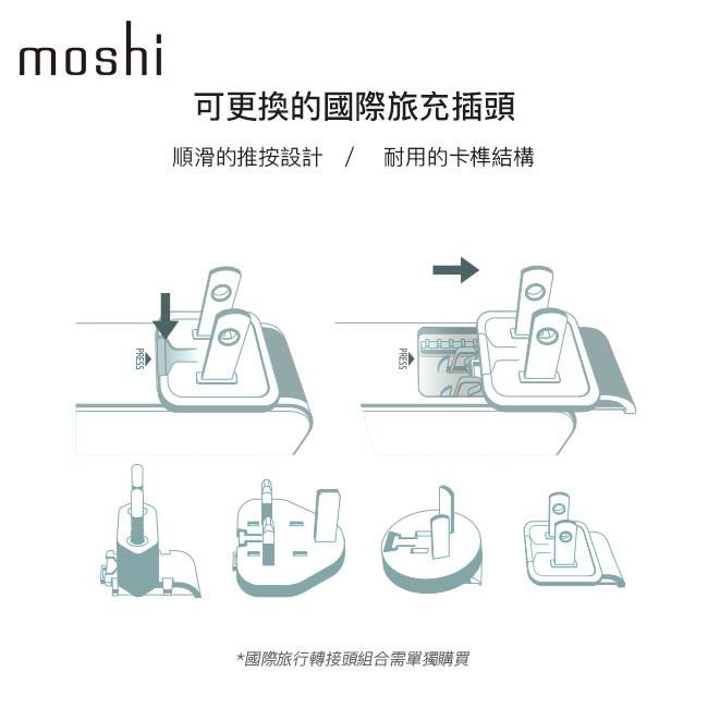 Moshi ProGeo 旅行系列 USB 4 port 充電器 萬國轉接頭