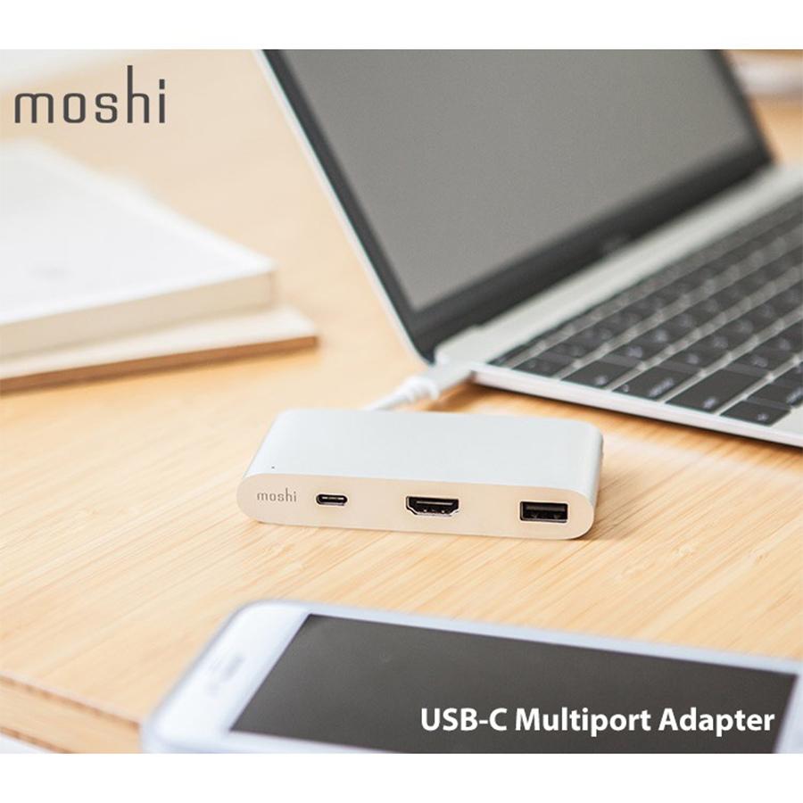 moshi USB-C 三合一多端口轉接器 macbook pro