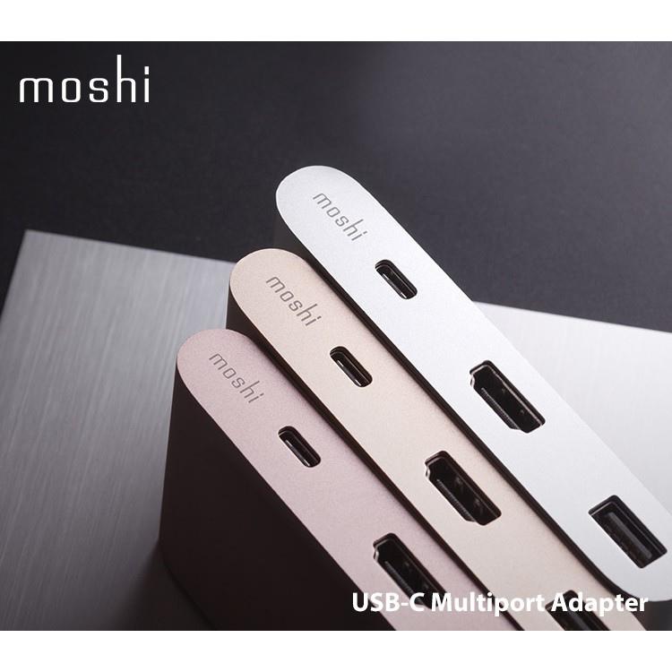moshi USB-C 三合一多端口轉接器 三款 玫瑰粉金 緞金 銀色