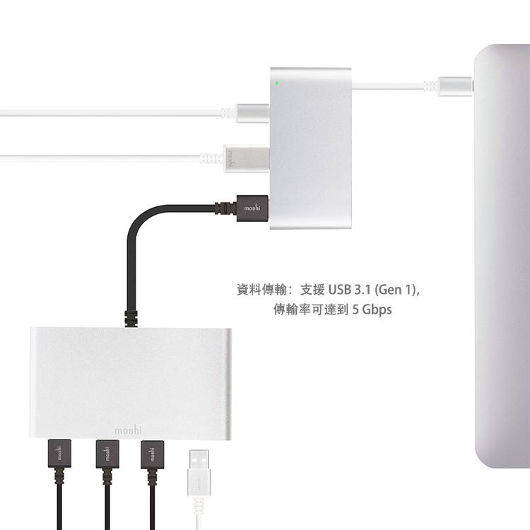 moshi USB-C 三合一多端口轉接器 USB3.1
