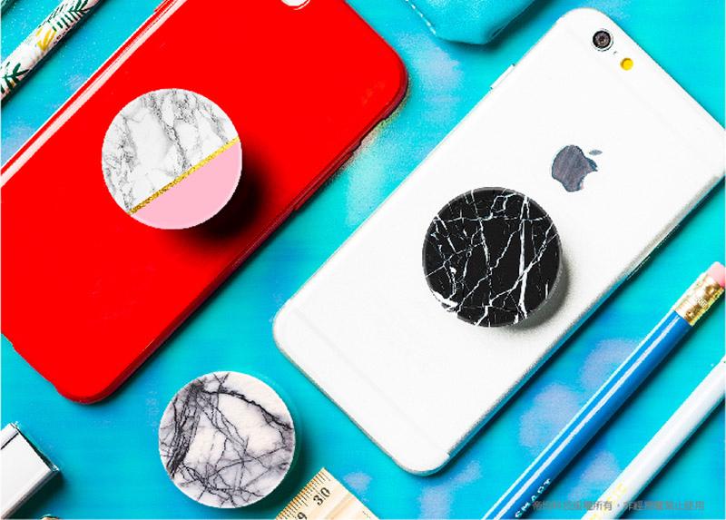 大理石系列-【PopSockets泡泡騷】美國時尚多功能手機支架