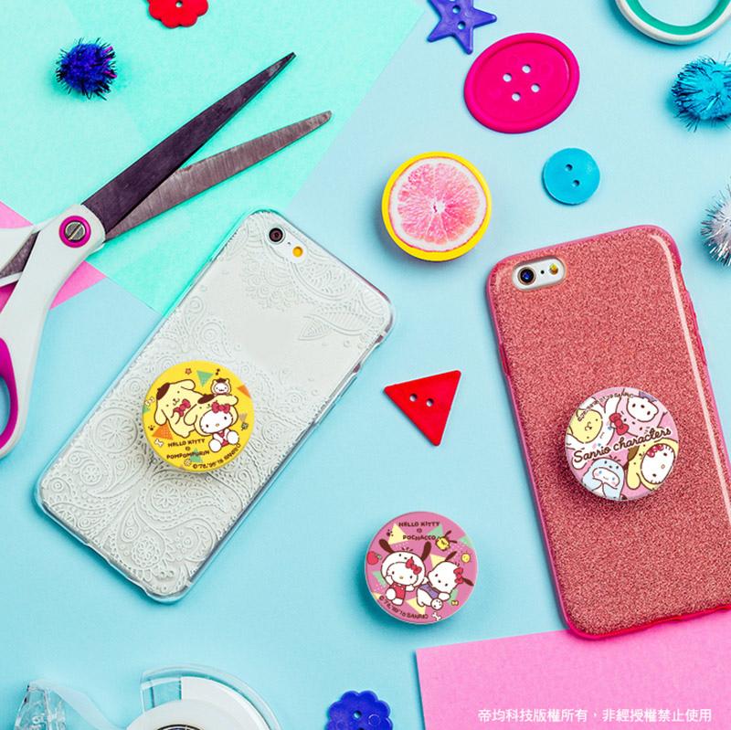 台灣三麗鷗正版授權系列-【PopSockets泡泡騷聯名限定款】美國時尚多功能手機支架