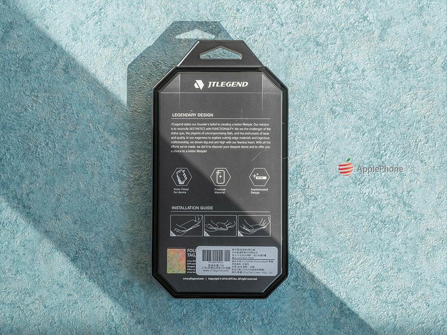 JTLegend Guardian Z 捍衛者保護殼,包裝背後是介紹 JTLegend 的理念以及保護殼安裝方式