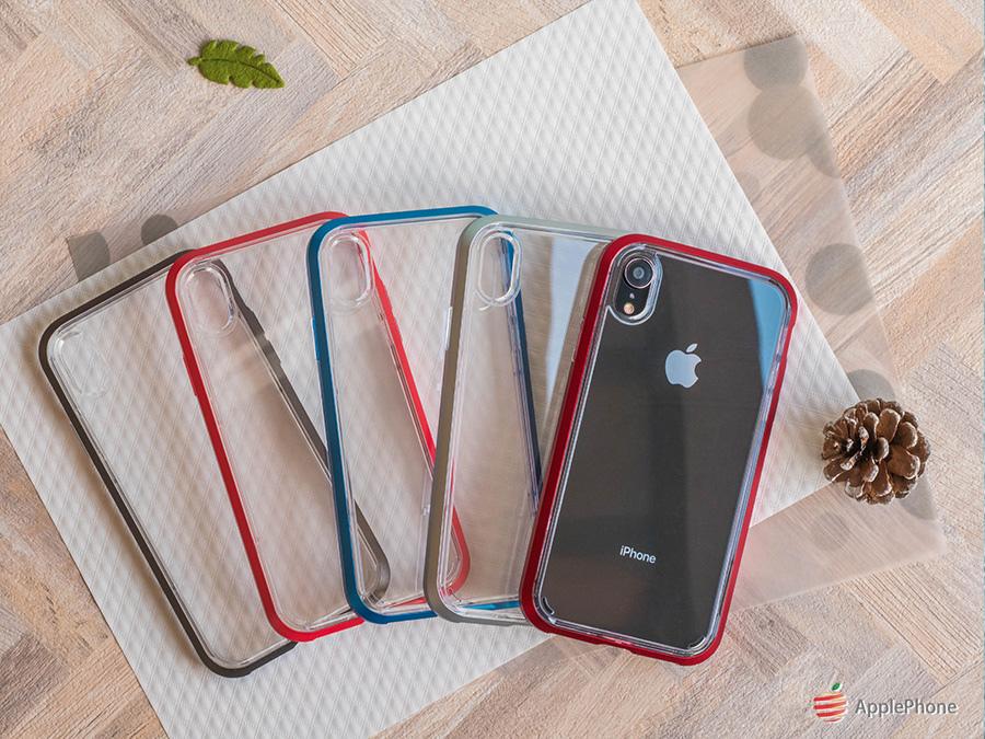 Spigen iPhone Neo Hybrid Crystal 軍規防摔透明保護殼,五款顏色:銅灰、銀、珊瑚、紅、藍