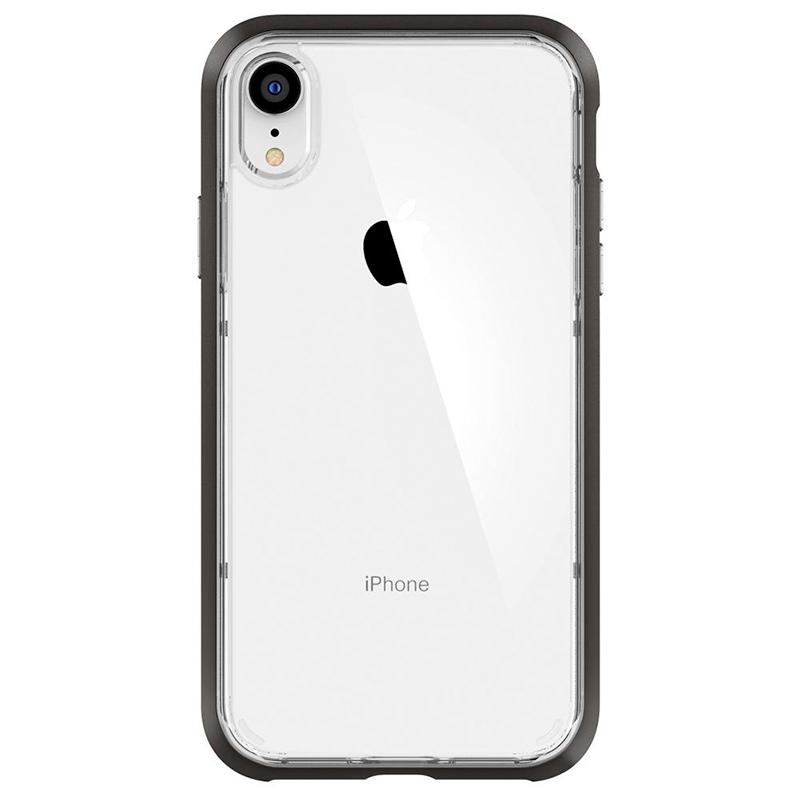 Spigen iPhone Neo Hybrid Crystal 軍規防摔透明保護殼,黑框配白色iphone XR