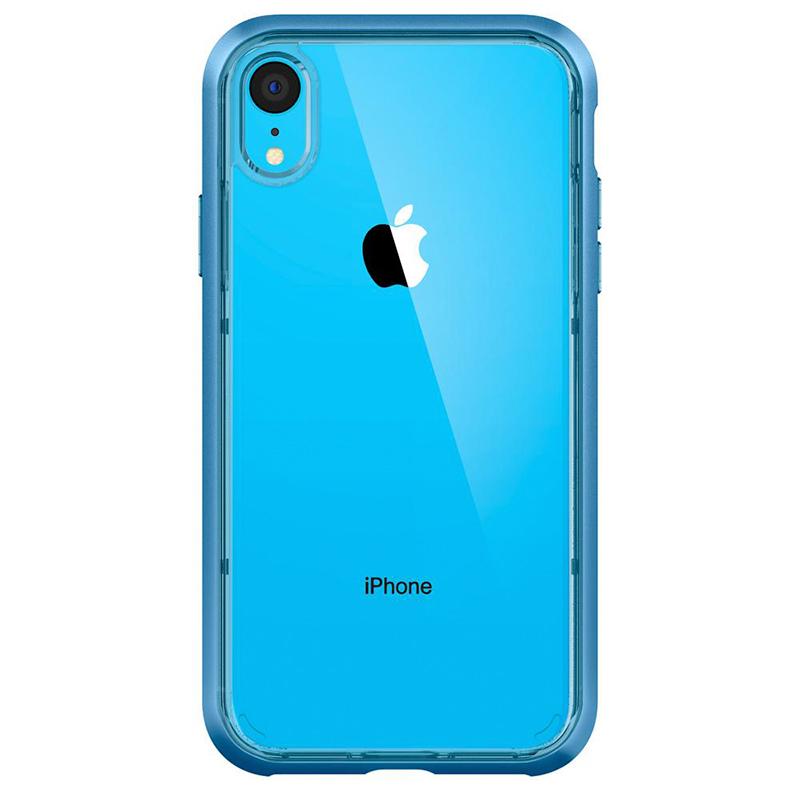 Spigen iPhone Neo Hybrid Crystal 軍規防摔透明保護殼,藍色框配藍色iphone XR